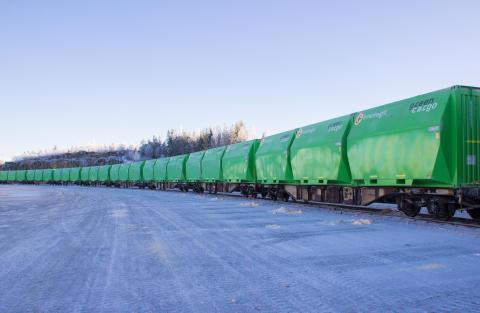 Green Cargo maximerar volymkapaciteten åt Söderenergi med nya XXXL-containrar