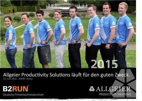 Allgeier Productivity Solutions läuft wieder für den guten Zweck beim B2RUN