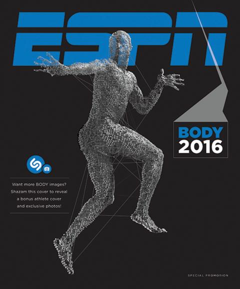 Adweek EXCLUSIVE:  ESPN The Magazine Teamed With Gatorade for This Mysterious, Tech-Savvy 'Body Issue' Cover Shazam reveals code-covered star
