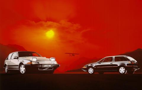Första Volvon med framhjulsdrift fyller 25 år
