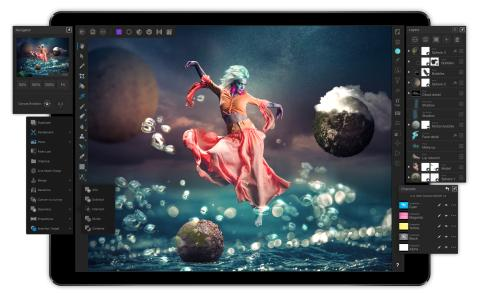 Affinity Photo for iPad: Layers expanded