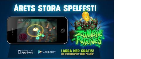 Estrella lanserar mobilspel - Zombie Potatoes