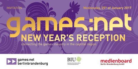 Einladung: games:net New Year's Reception