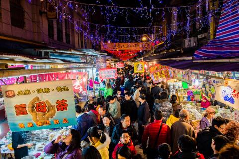 Nachtmärkte in Taiwan