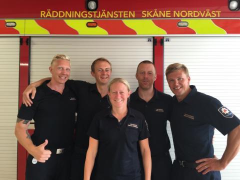 Styrka från Ängelholm som deltog i pilotstudien med händelsebaserade hembesök.