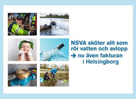 NSVA sköter VA-faktureringen i Helsingborg från årsskiftet