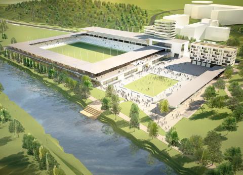 FOJAB arkitekter ritar nya idrottsarenor på anrik mark