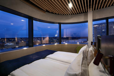 Guest room at U&Me Hotel, Umeå, by Stylt