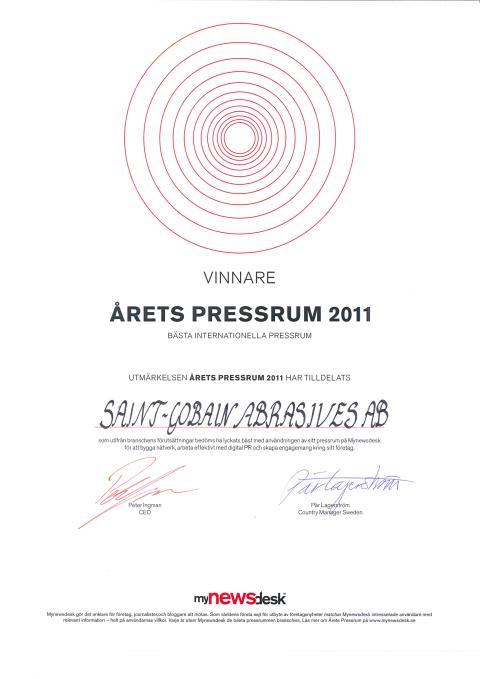 Bedste Internationale Presserum - Diplom