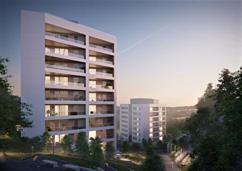 HSB säljstartar Kvarnbyterrassen, med gröna takterrasser och drömbalkonger.