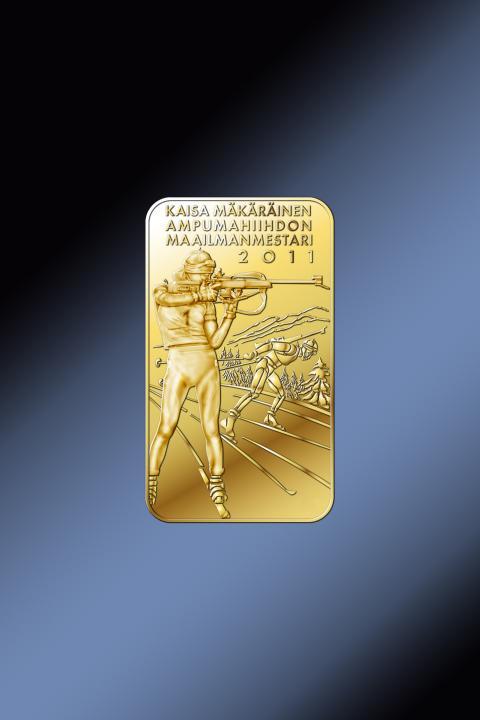Maailmanmestari Kaisa Mäkäräisen kunniaksi lyödään keräilyharkko