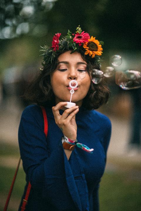 Blommor och såpbubblor
