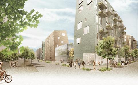 Visionsbild - Kvarter 1 Lindholmshamnen