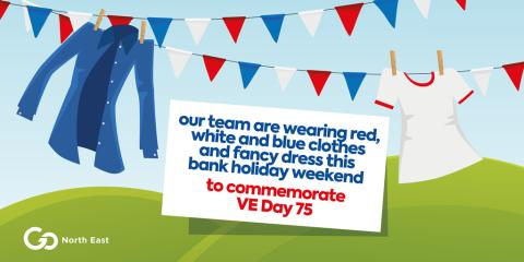 Go North East bus drivers set to wear red, white and blue to commemorate VE Day