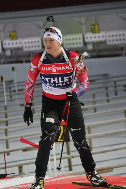 Vetle på dagens trening i Østersund