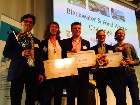 Vinnarna i innovationstävlingen för nytt avloppssystem i H+