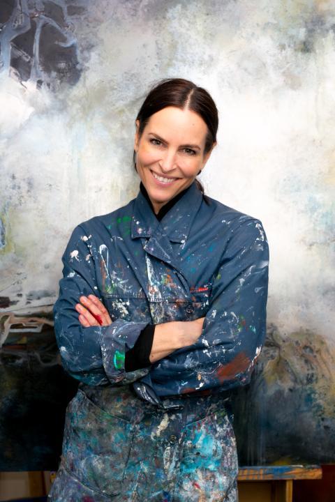 Samtidskunstner Trudy Wiegand solgte kunst for nesten 1 million under åpningshelgen