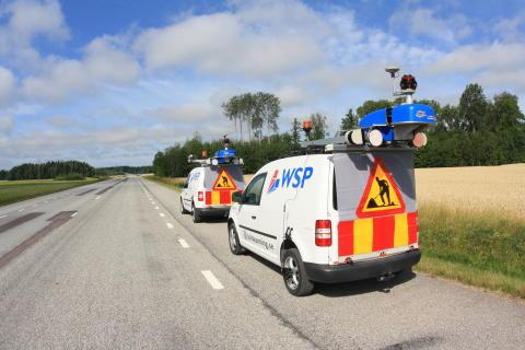 WSP laserskannar och fotograferar Sveriges stomvägnät