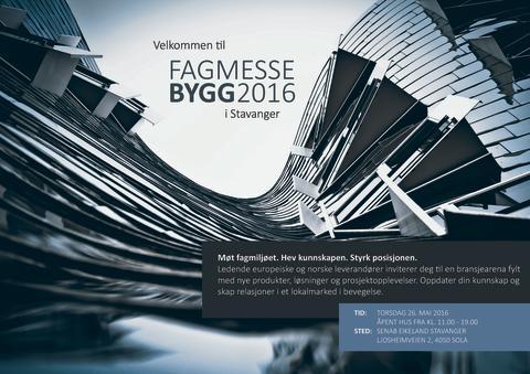 Sentrale aktører arrangerer Fagmesse Bygg 2016 i viktig region