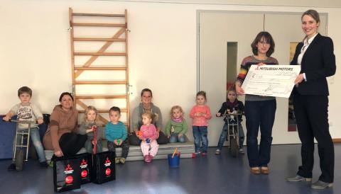 Mitsubishi Motors in Deutschland unterstützt den Deutschen Kinderschutzbund