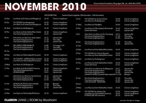 Eventkalender November
