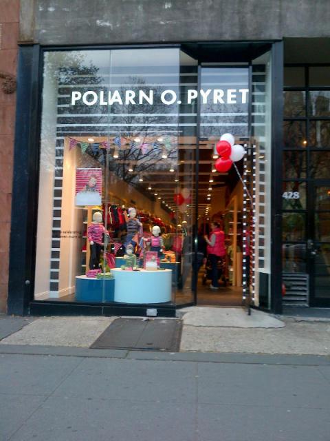 Butiksöppning Polarn O. Pyret Manhattan