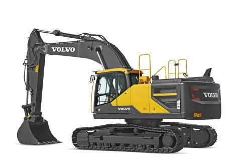 Volvo EC300E grävmaskin - Steg 4 (frilagd)