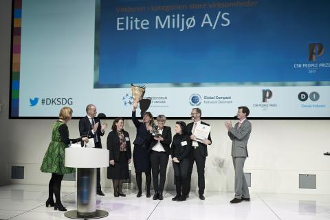 Elite Miljø vinder CSR People Prize 2017 for store virksomheder
