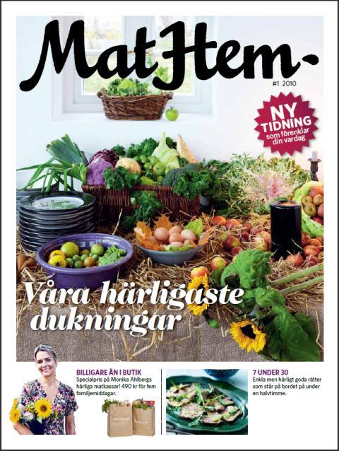 MatHem lanserar tidning – Matinspiration, Matvanor och Vackra Dukningar i första numret