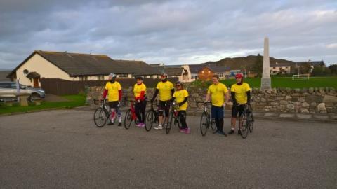BT'S Highland contact centre cyclists raise cash for hospice