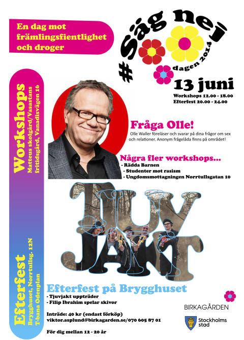 Birkagården presenterar: Säg Nej Dagen 13 juni