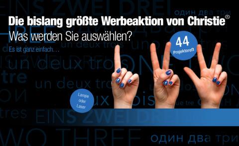 """Kanadischer AV-Hersteller Christie® launcht bisher größte Werbeaktion """"1, 2, 3 Option"""""""