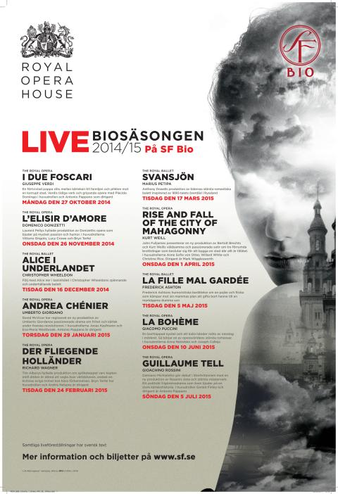 Programmet för live opera från Royal Opera House i London