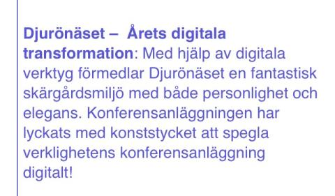 Årets digitala transformation