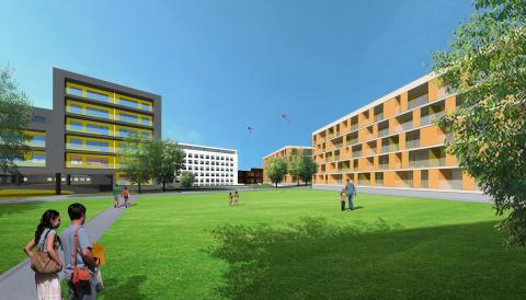 Skissförslag studentbostäder, Studentstaden, Uppsala