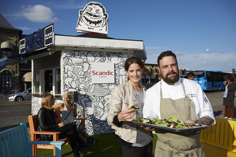 Scandics Pop Up restaurang intar Drottningtorget i Göteborg