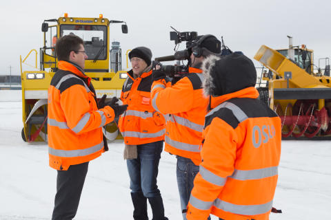 CNN visits a wintery Oslo Airport