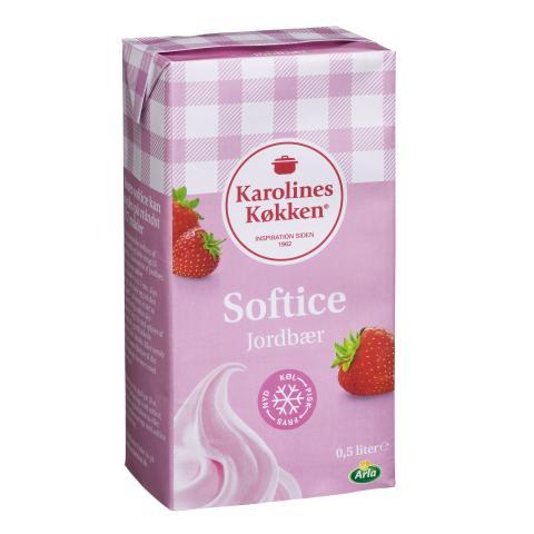Karolines Køkken jordbær softice