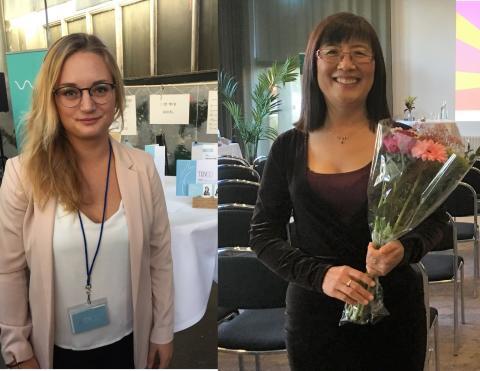 Vinnarna Årets Tekniklöfte och Årets Tekniker  2016, Sofie Woge och Tongyun Shen.