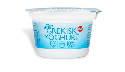 Larsa kompletterar sortimentet med ytterligare ett mathantverk från Grekland - Äkta grekisk filtrerad yoghurt (0% fett, 10% protein) nu i portionsförpackning!