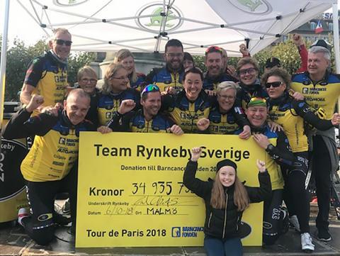 Smekab Citylife stödjer Team Rynkeby och Barncancerfonden