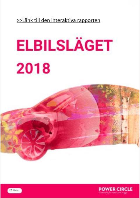 Elbilsläget 2018 med ny prognos