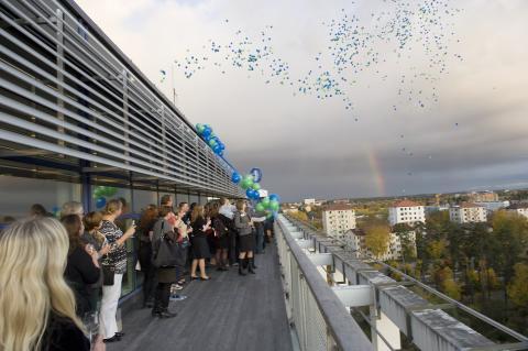 Nytt starkt förbund för naturvetare - firat med ballonger