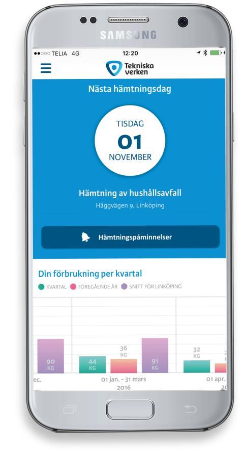 Nu finns Tekniska verkens app även för Android