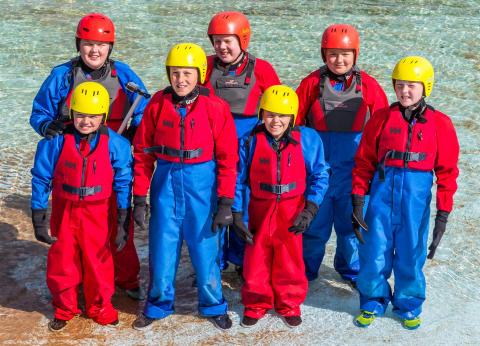 Coasteering at Portknockie group