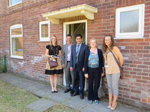 HCA visits first empty homes brought back into use in Bury