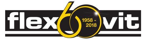Flexovit 60 år - Logo