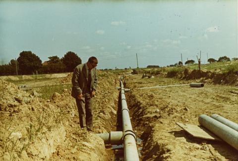 Fjärrvärmeförläggning 1964