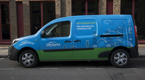Mitie offers ground-breaking hydrogen van courier service to clients