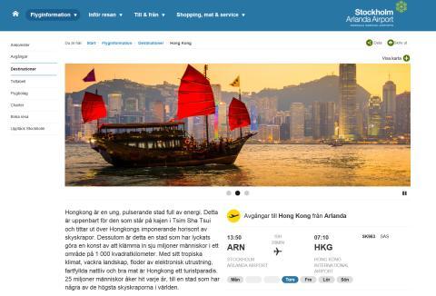 Mer reseinspiration på Swedavias webbplatser